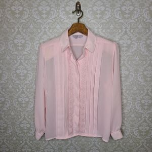 Laura and Jayne Pink Vintage Button Down Top